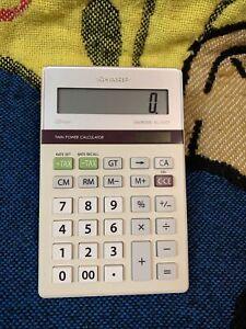 Genuine SHARP ELSIMATE EL-334T 10-Digit LCD Twin Power Desktop Calculator