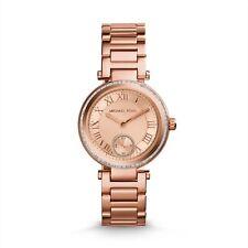 Michael Kors Mini Skylar Ladies Designer Rose Gold Glitz Bracelet Watch MK5971