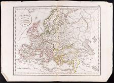 1830 - Carte ancienne L'Europe avant l'Invasion des barbares / Delamarche