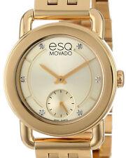 NEW ESQ BY MOVADO 07101417 SWISS QUARTZ LADIES DIAMOND GOLD TONE WATCH CLASSICA