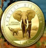 Zambia 1000 kwacha 2014 UNC African Elephant Africa Wildlife