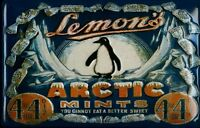 Lemons Arctic Mints Metal Tin Plate Sign Tin Sign 7 7/8x11 13/16in