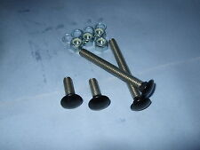 Bumper Bolt Set for MK1/MK2  Escort Matte Black (set of 4), Also Capri, Cortina