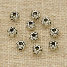 10Pcs/Lot Antique Silver Lotus Flower Bead Findings for Jewelry Making Craft DIY