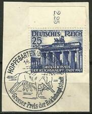 Germany Third Reich 1941 CTO Berlin Horse Race Grosser Preis Hoppegarten Cancel