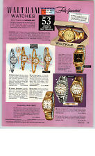 1959 PAPER AD 4 PG Waltham Wrist Watch Suffield 25 Jewel Pinckney Farmington