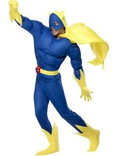 Bananaman Padded EVA Chest Costume Medium Blue Adults Men Superhero Fancy Dress