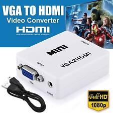 VGA to HDMI Full HD Video 1080P Converter Box Adapter for PC Laptop DVD TV USA