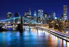 STUNNING NEW YORK CITYSCAPE CANVAS PICTURE #344 QUALITY FRAMED NEW YORK WALL ART