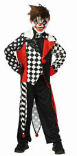 Horror Clown Kostüm Kinder Pierrot Narre Killerclown Halloween Fasching KK