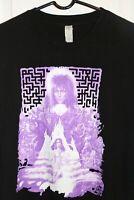 Retro Labyrinth Movie T-Shirt Men's Large Black David Bowie