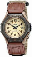 Casio Forester FT-500WC-5 Brown New Mens Watch Analog Nylon Band FT-500 Light