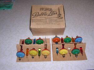 BUBBLE LIGHTS 10 NOMA BISCUIT LIGHT DECORATION CHRISTMAS TREE LITE C6 BASE
