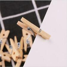 50 PCS Wood Clothespins Wooden Laundry Clothes Pins Paper Peg DIY Clip Practical
