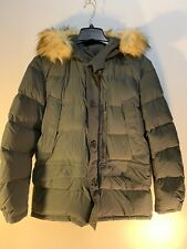 Mens Parajumpers Anchorage Winter Jacket Coat Green Sz Large 90/10 Down