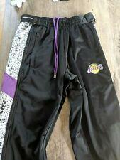 Los Angeles Lakers Zipway Pants Small Rare EUC