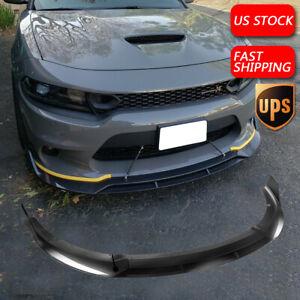 Carbon Fiber Fits 15-20 Dodge Charger SRT V2 Style Front Bumper Lip Splitter USA