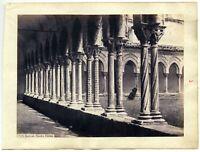 Monreale Palermo Chiostro 2 foto originali all'albumina Sommer Behles 1860c L729