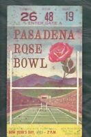 1963 Rose Bowl college football ticket Wisconsin Badgers USC Trojans FAIR spots