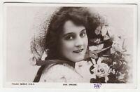 EVIE GREENE - Edwardian Actress - 1906 used real photo postcard