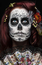 BEAUTIFUL MEXICAN SUGAR SKULL CANVAS PICTURE #46 STUNNING GOTHIC MAKE UP CANVAS