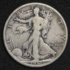 ** 1918-S Walking Liberty Silver Half Dollar FREE SHIPPING!