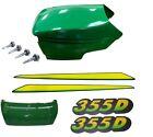 New Upper & Lower Hood/Bumper/LH&RH Stickers Fits John Deere 355D