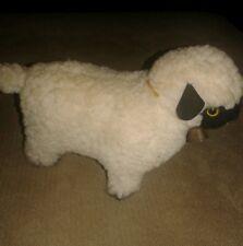 "Handcrafted Lamb Plush Stuffed Animal 8"" by Pauline's Original 1974"