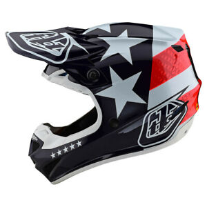 "2021 Troy Lee Designs SE4 ""Freedom"" Adult XL MX Helmet TLD Motocross"