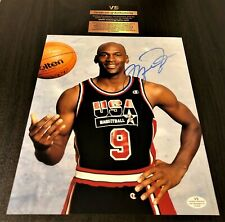 Michael Jordan Dunking Signed 8x10 Photo w/ COA Autograph Dream Team Certified