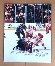 Red Wings Darren McCarty- SIGNED Fight Photo 16x20 with Inscription