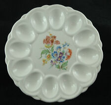 Vtge. Deviled Egg Plate with Flower Motif in the Center by E&R American Artware