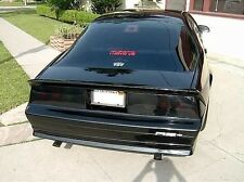 Chevy Camaro IROC Z-28 1985 - 1992 2pc Smoke Tail Light Covers Blackout Black
