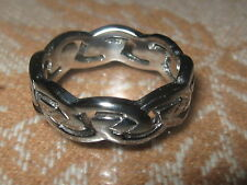 USA STAINLESS STEEL LADIES WOMEN CELTIC KNOT IRELAND IRISH RING SIZES 6-9 RINGS