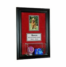 Pet Memorial Picture Frame with Eng and Display Case Dog Memorial Cat Memorial