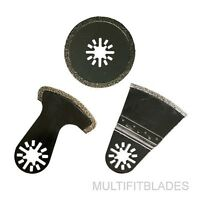 3 Diamond Oscillating Multi Tool Blades: Fein Multimaster, Rigid, Dremel, Bosch
