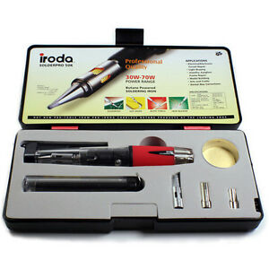 Iroda SOLDERPRO 50, SP50, SP-50 Butane Gas Soldering Iron Kit
