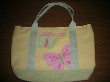 "Pottery Barn Kids Butterfly Applique Tote ""McKenzie"" New"