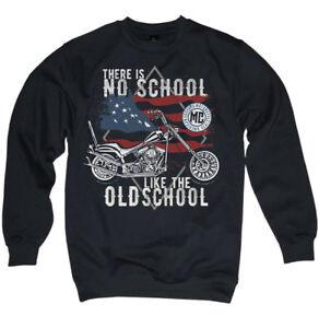Pullover Biker No. School Like The Old Chopper Motorcycle Men's