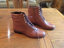 Dune 'Pitch' Tan Leather Ankle Boots Eur 41 UK8 Brand New RRP £100