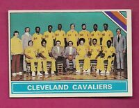 1975-76 TOPPS # 207 CLEVELAND CAVALIERS  TEAM PHOTO NRMT-MT CARD (INV# A4004)