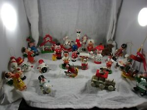 Lot of 25 Vintage Wooden Christmas Tree Ornaments