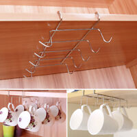 Under Shelf Coffee Cup Mug Holder For Kitchen Hanger Storage Rack Cabinet Hook