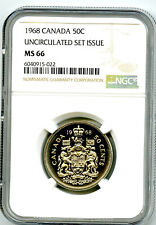 1968 CANADA 50 CENT NGC MS66 HALF DOLLAR UNCIRCULATED SET ISSUE