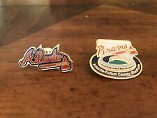 Vintage 2 ATLANTA BRAVES LAPEL LOGO PIN MLB BASEBALL