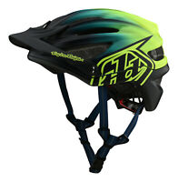 Troy Lee Designs 2020 A2 MTB Bicycle Helmet w/MIPS Stain'D  - Navy / Yellow