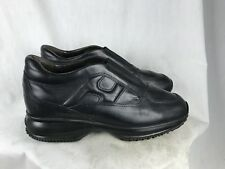 Hogan Mens 7D Black Leather Casual Shoes
