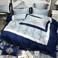 Embroidered Luxury Egyptian Cotton   Bedding Sets 4/6pcs Bed Set Bed Sheet