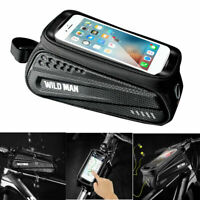 Bicycle Cycling Bike Front Top Tube Frame Bag MTB Waterproof Phone Holder Case #