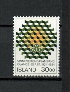 s34008 ISLAND ICELAND ISLANDA MNH 1984 Work association 1v